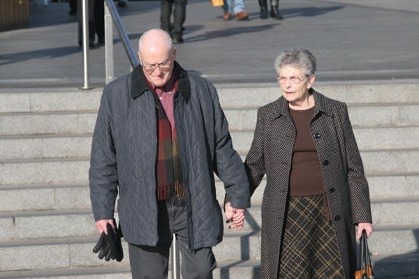 Stuur foto van Couple in the streets of Birmingham van Verenigd Koninkrijk als een gratis kaart