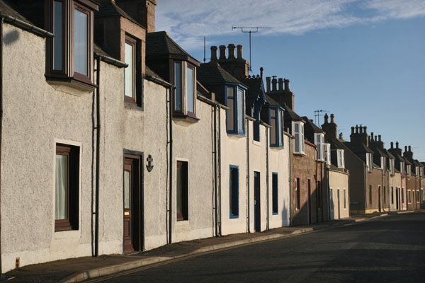 Stuur foto van Houses in Cruden Bay in Scotland van Verenigd Koninkrijk als een gratis kaart