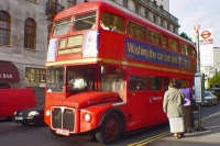 Foto van London double decker bus - United Kingdom