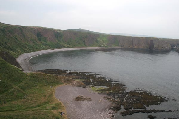Scottish coastline south of Aberdeen