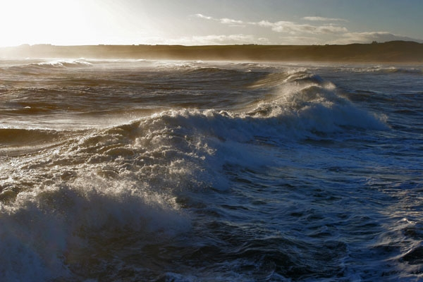 Send picture of Waves near Cruden bay from United Kingdom as a free postcard