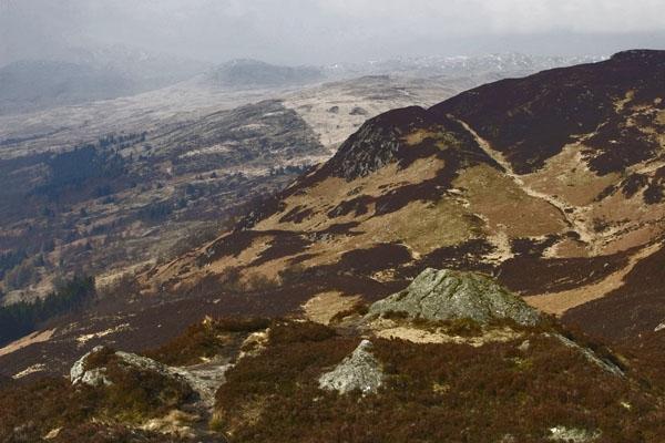 Spedire foto di View over the Scottish highlands di Regno Unito come cartolina postale elettronica
