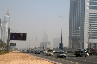 Foto van A dusty Dubai road - United Arab Emirates