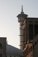 Foto van Windtower and minaret in Bur Dubai - United Arab Emirates