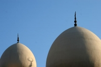 Foto van Domes of the Grand Mosque in Bur Dubai - United Arab Emirates