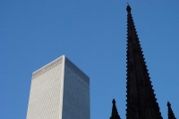 Foto van Trinity Church tower and building - U.S.A.