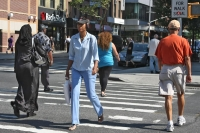 Foto de People in a New York street - U.S.A.