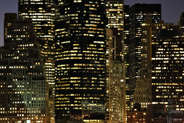 Send picture of Lit apartments in New York from U.S.A. as a free postcard