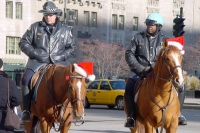 Foto de Chicago policemen at Christmas time - U.S.A.