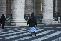 Picture of Nun crossing a street outside St. Peter's square - Vatican City