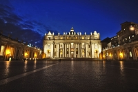 Picture of St. Peter's square and cathedral in Vatican City in the early evening - Vatican City