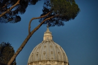 Picture of Cupola of St. Peter's cathedral designed by Michelangelo - Vatican City