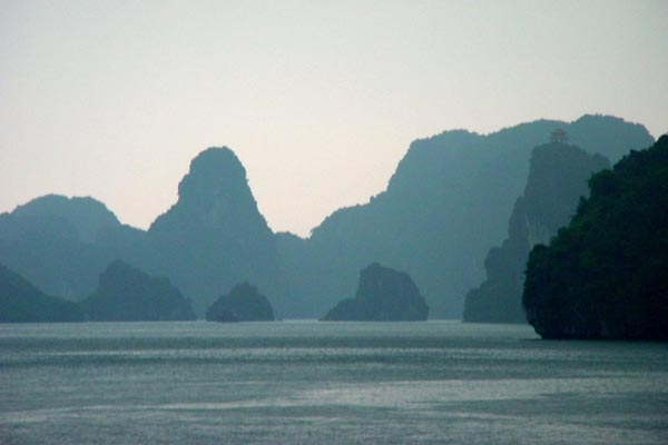 Rain in Halong Bay