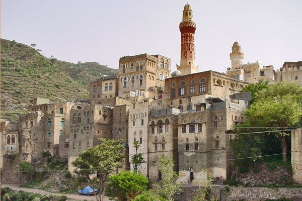 Send picture of Minarets in Jibla from Yemen as a free postcard