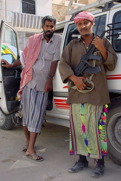 Send picture of Practically all Yemeni men own at least one weapon  from Yemen as a free postcard