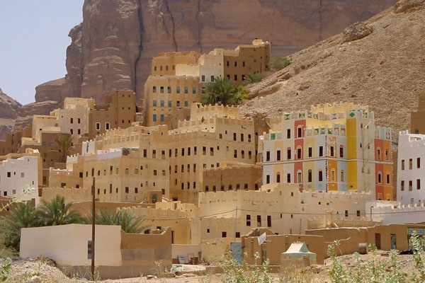 Send picture of Tall mud houses in Wadi Hadramawt from Yemen as a free postcard