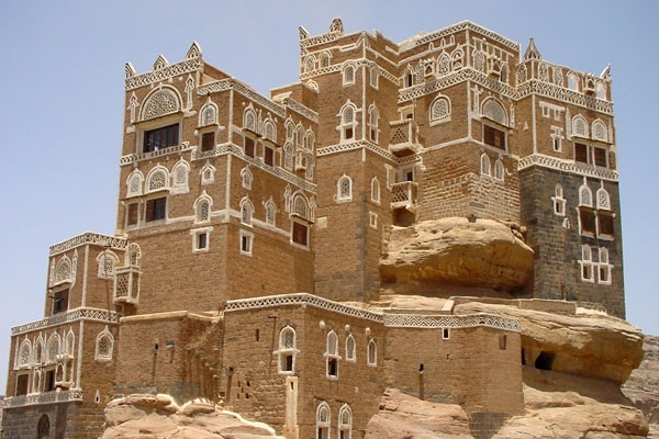 Send picture of Rock palace in Wadi Dar from Yemen as a free postcard