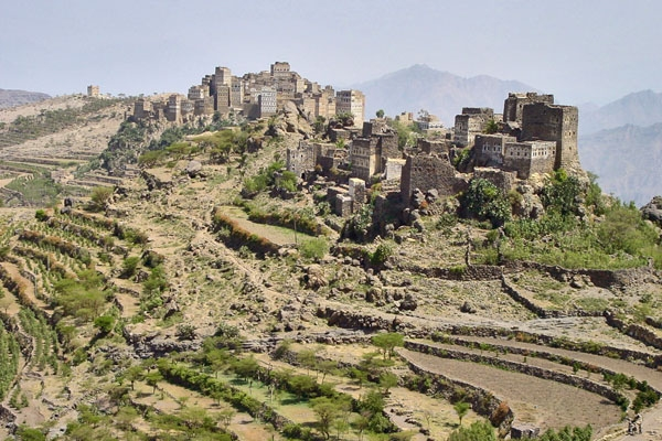 Send picture of Village in the Haraz mountains from Yemen as a free postcard
