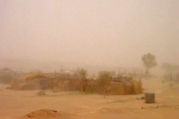 Send picture of Desert sand blowing in the air near Marib from Yemen as a free postcard