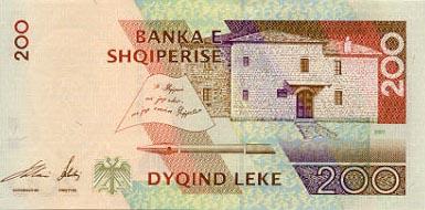 Plaatje van geld uit Albanië