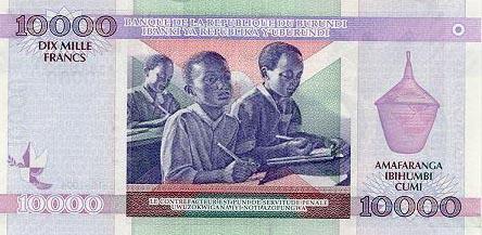 Plaatje van geld uit Burundi