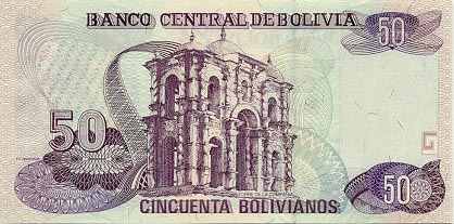 Image of money from Bolivia