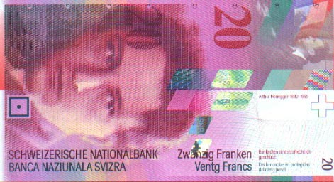 Image of money from Switzerland