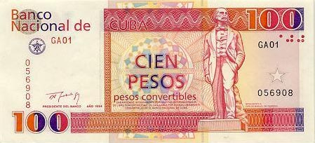 Image of money from Cuba