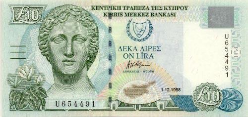 Plaatje van geld uit Cyprus