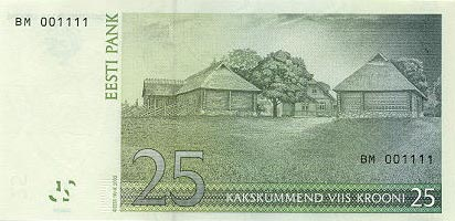 Image of money from Estonia