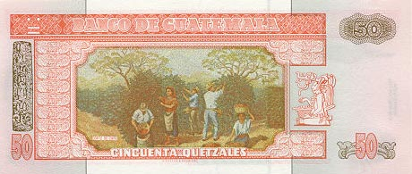 Image of money from Guatemala