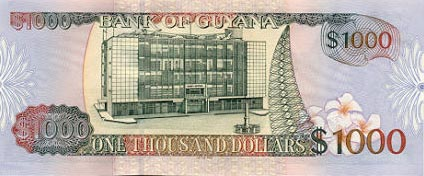 Image of money from Guyana