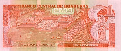 Image of money from Honduras