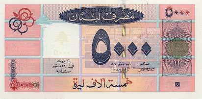 Image of money from Lebanon