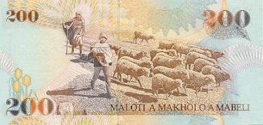 Plaatje van geld uit Lesotho