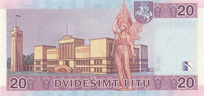Image of money from Lithuania