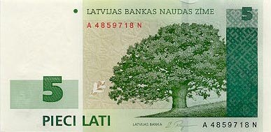 Image of money from Latvia