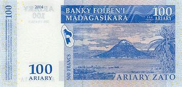 Image of money from Madagascar