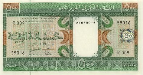Image of money from Mauritania