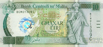 Image of money from Malta