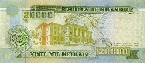 Plaatje van geld uit Mozambique