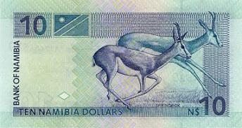 Plaatje van geld uit Namibië
