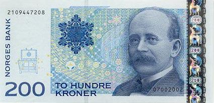 Plaatje van geld uit Noorwegen