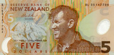 Image of money from New Zealand