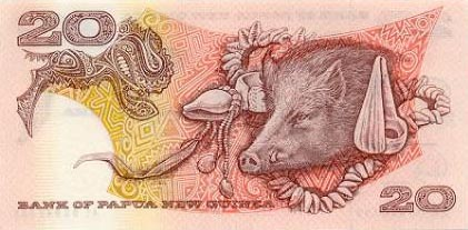 Image of money from Papua New Guinea