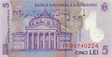 Plaatje van geld uit Roemenië