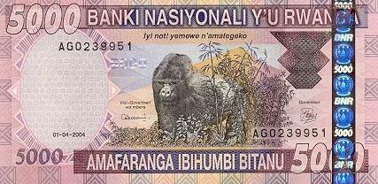 Image of money from Rwanda