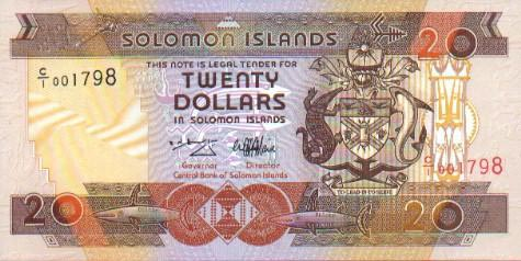 Image of money from Solomon Islands