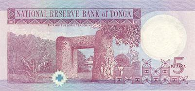 Image of money from Tonga