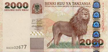 Image of money from Tanzania